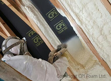 Contractory Spraying Foam Insulation in Attic